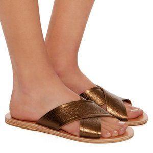 Ancient Greek Thais Leather Sandals Bronze 37
